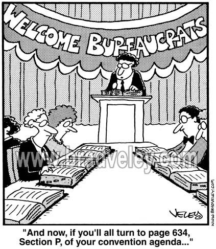 Welcome bureaucrats!