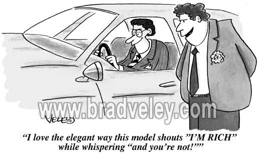 "Car shouts ""I'm rich!"""