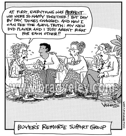 Buyer's Remorse Support Group