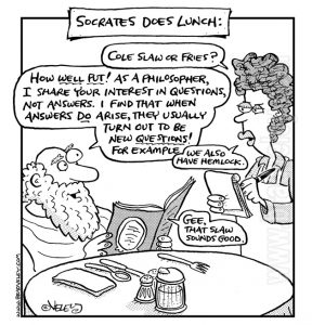 Socrates does lunch