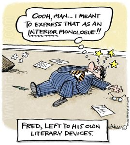 Fred, left to his own literary devices.