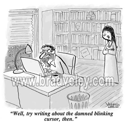 """Write about the blinking cursor…"""