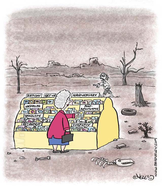 Post-apocalypse greeting card