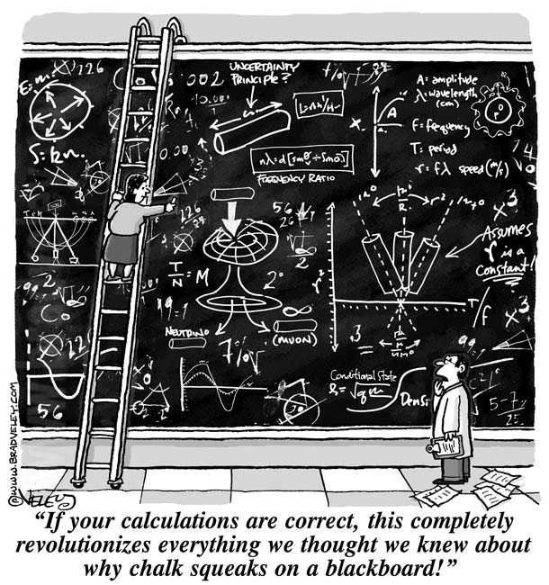 If your calculations are correct, this completely revolutionizes what we know about why chalk squeaks on a blackboard!