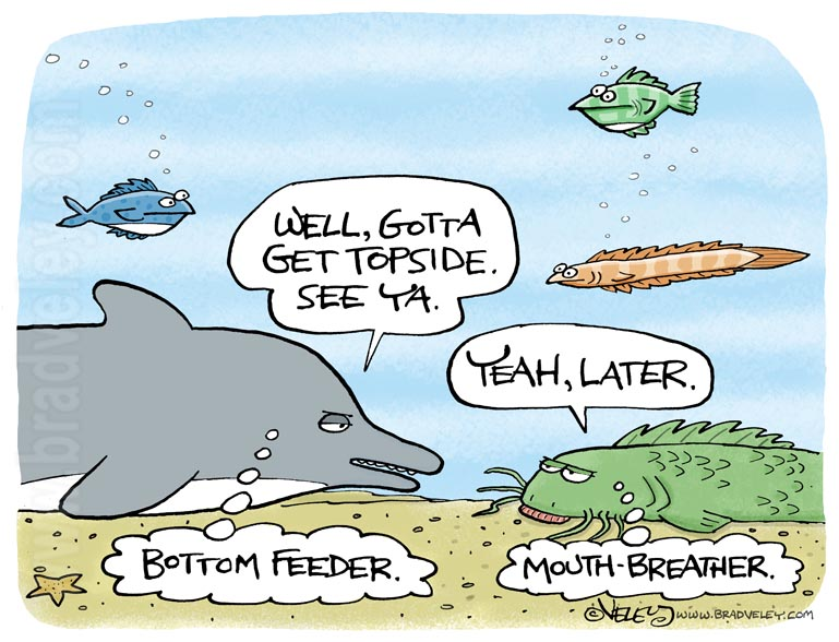 Bottom feeder, mouth breather