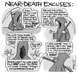 Near-Death Excuses